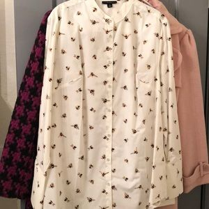 Victoria Beckham for Target Bee Button up Top